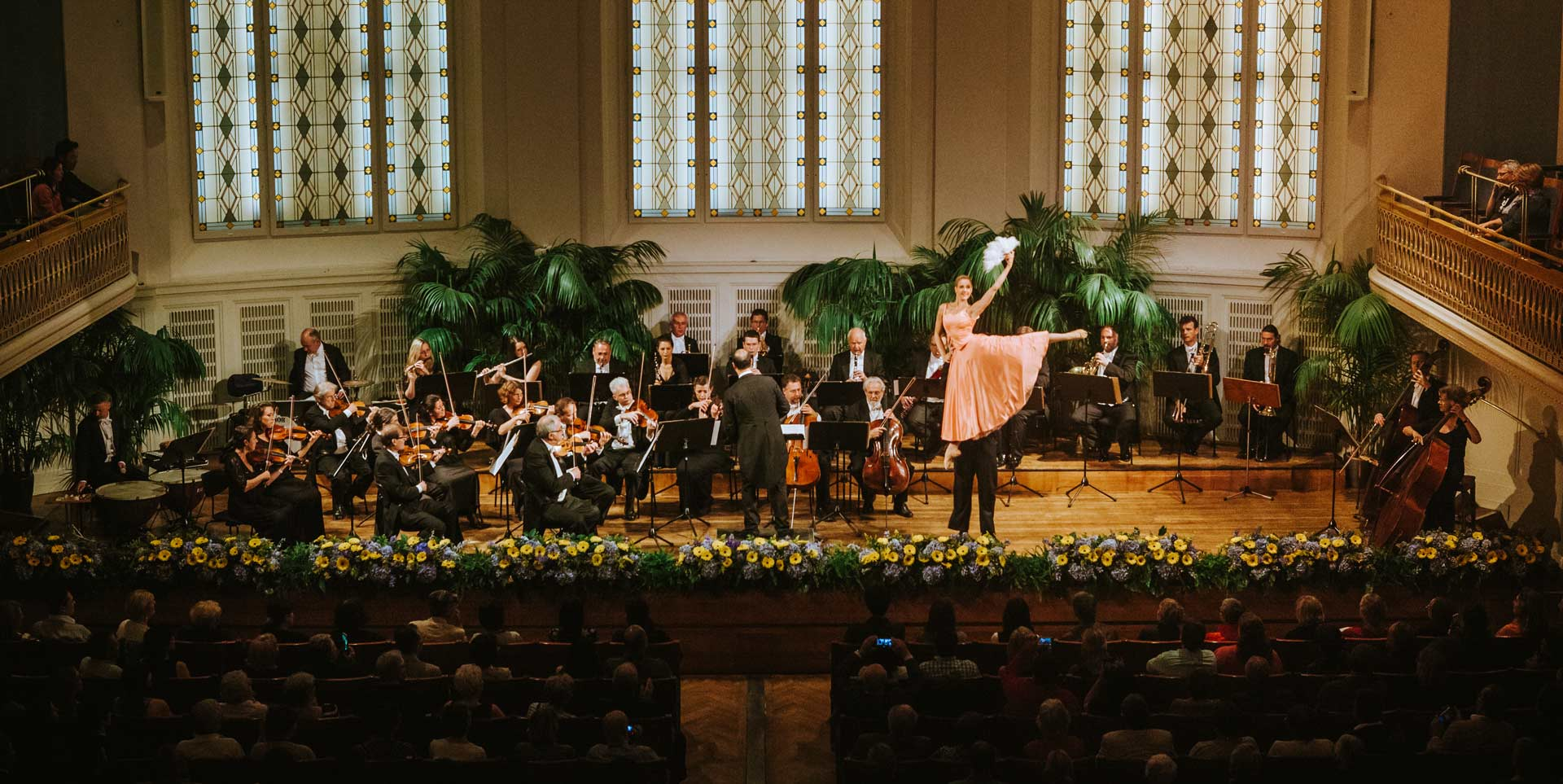 Wiener Hofburg-Orchester beim klassischen Konzert mit Ballett im Mozartsaal des Konzerthaus Wien