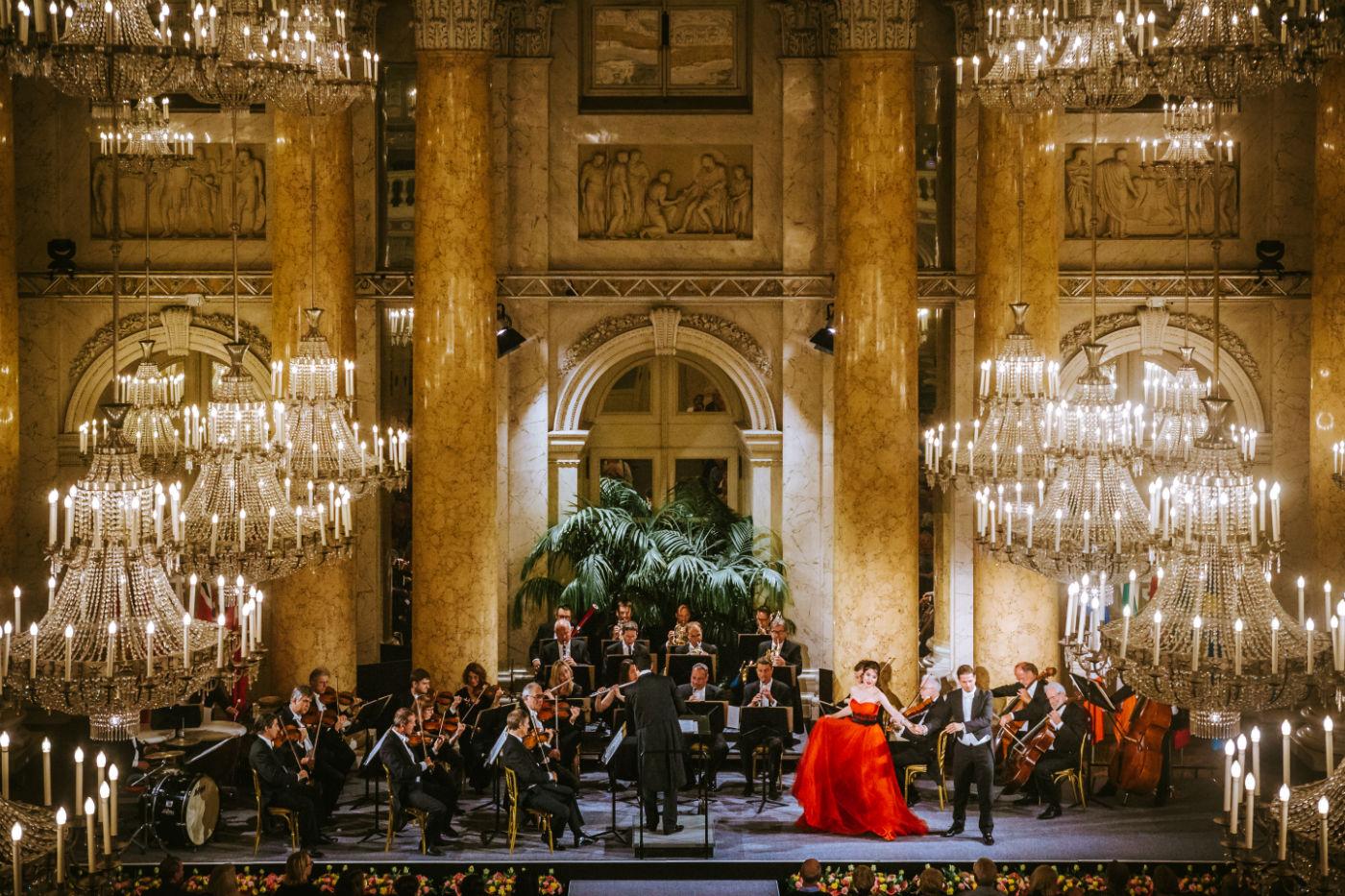 Wiener Hofburg-Orchester bei einem klassischen Konzert im Zeremoniensaal der Hofburg Wien