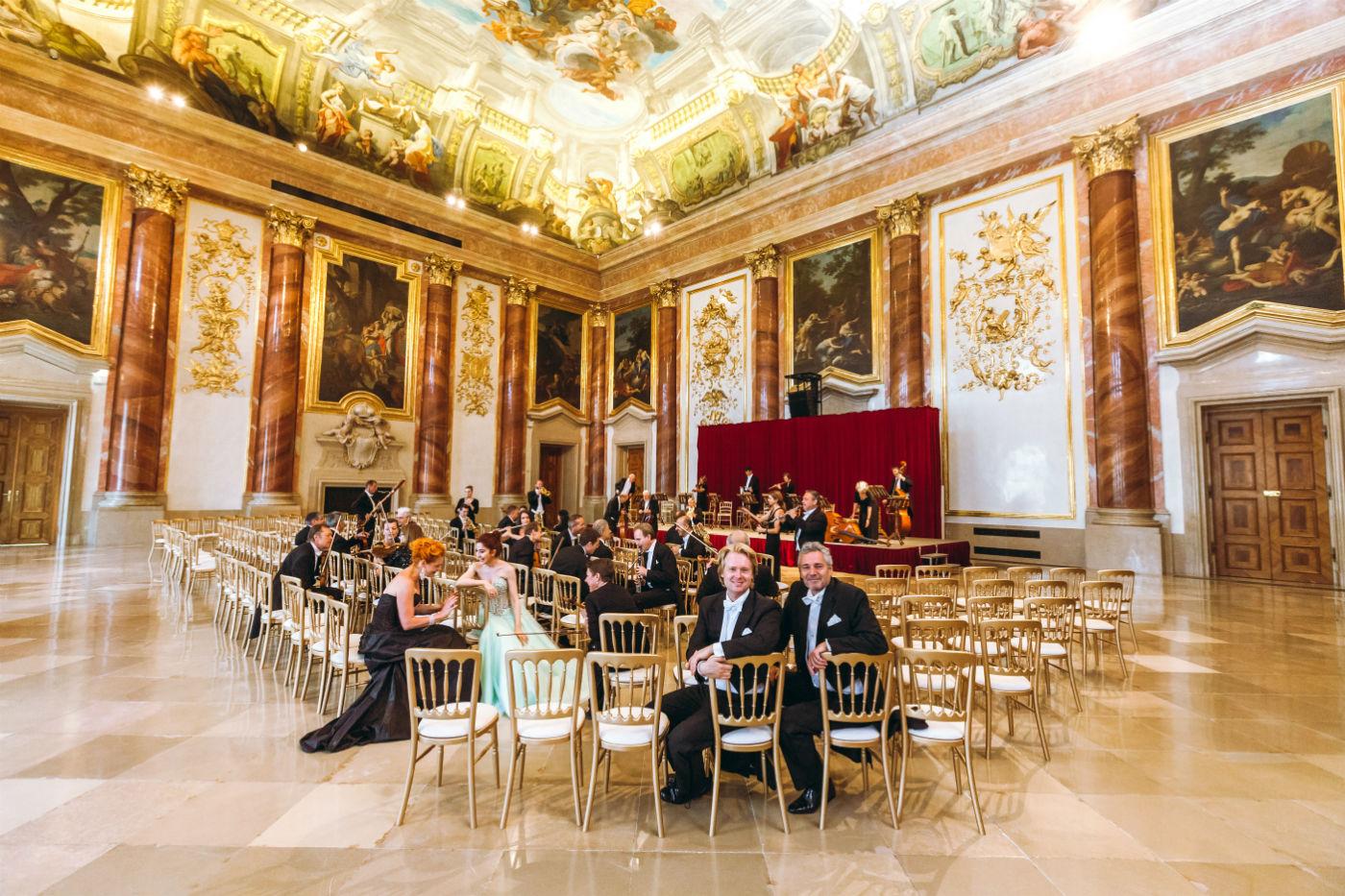Wiener Hofburg Orchester bei der Probe zum Neujahrskonzert im Palais Liechtenstein
