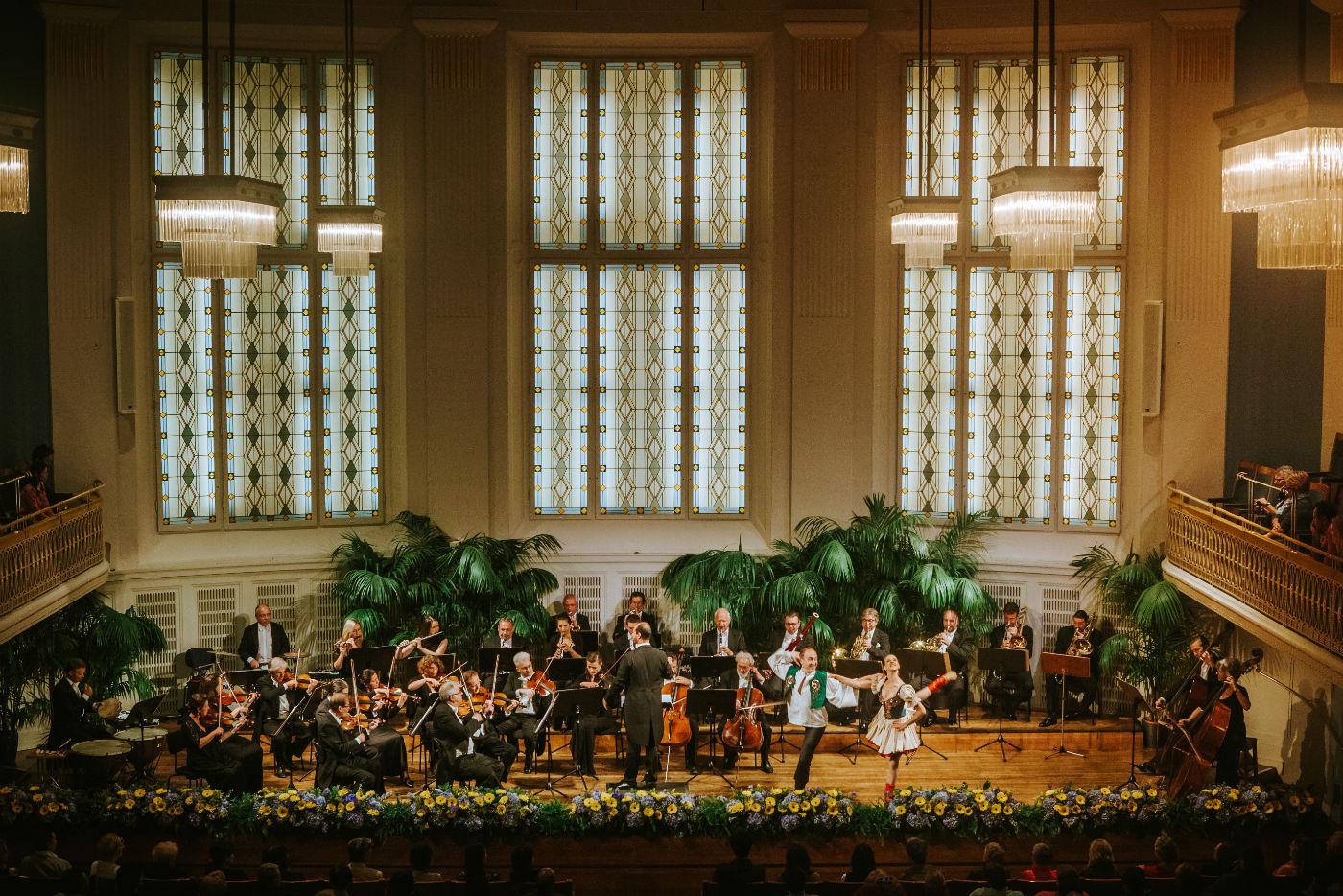 Wiener Hofburg-Orchester bei einem klassische Konzerte und klassischen Konzert mit Ballett im Mozartsaal des Konzerthaus Wien