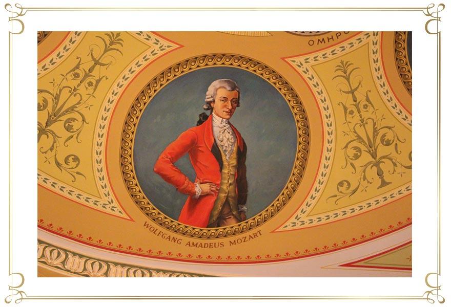 Wandgemälde von Wolfgang Amadeus Mozart