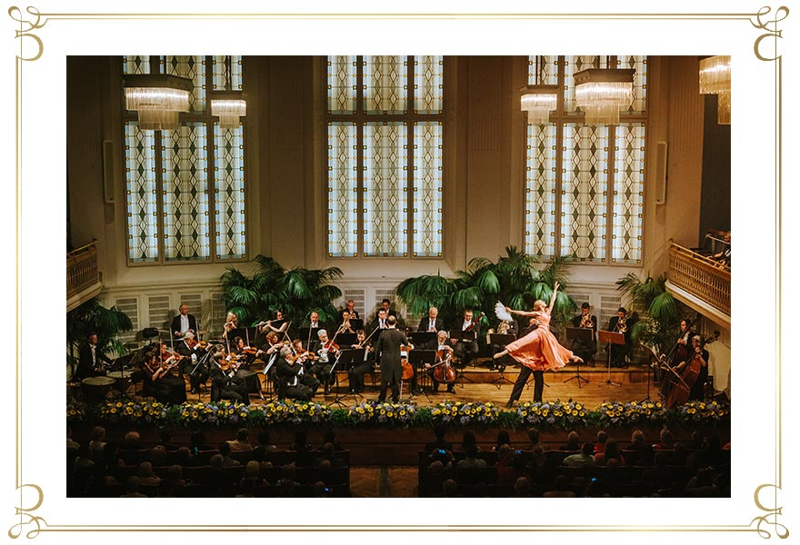 Wiener Hofburg-Orchester bei einem klassischen Konzert mit Ballett im Konzerthaus Wien