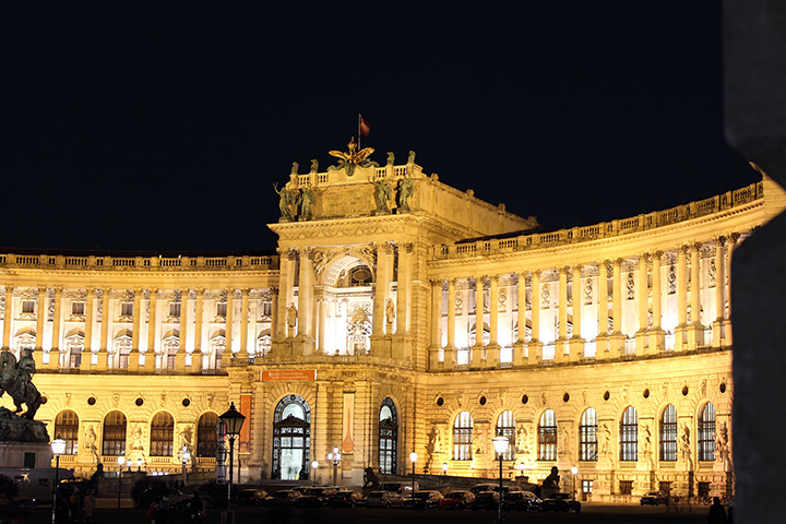 Hofburg (Imperial Palace) Vienna by night