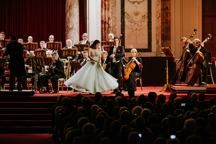 Vienna Hofburg-Orchestra - soprano and baritone at the classical concert for christmas in Vienna