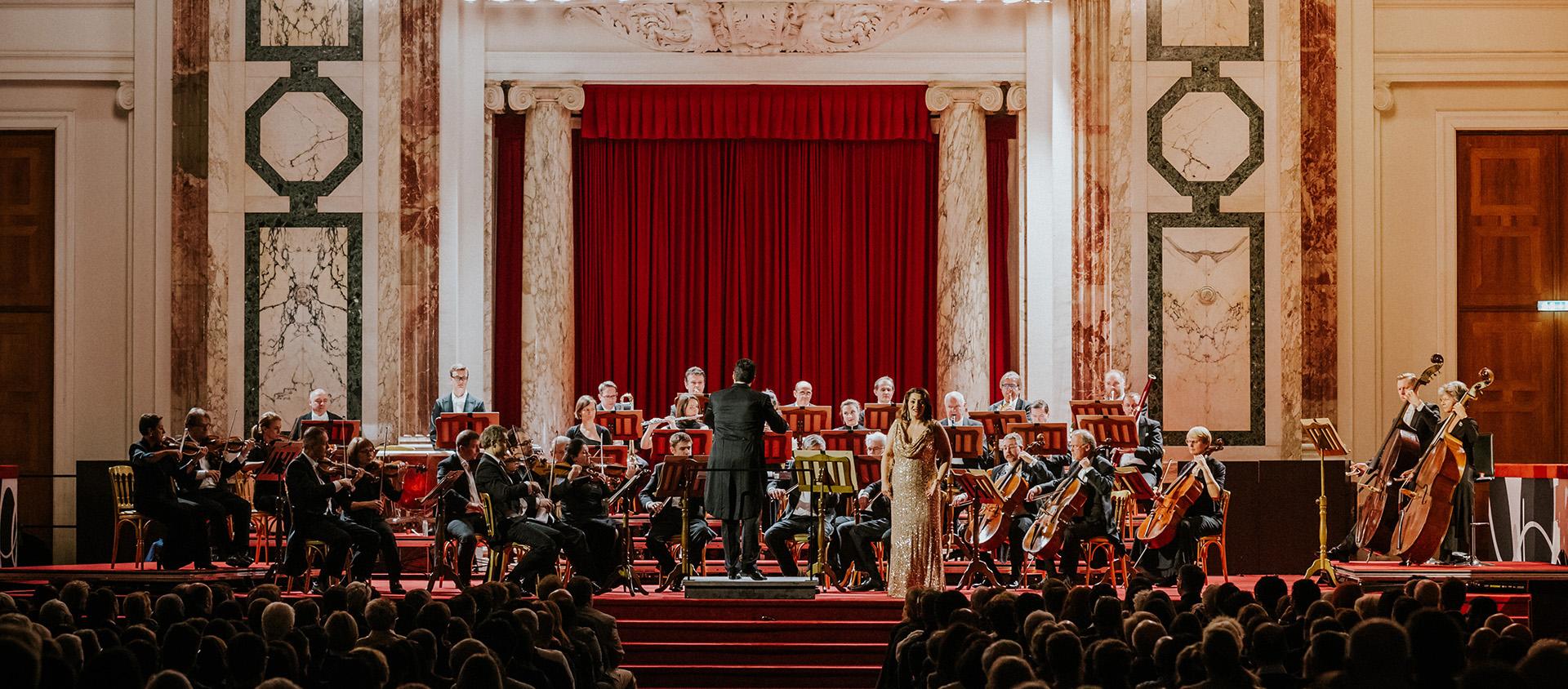 musica classica con Selvana Salmasi nella Sala delle feste della Residenza imperiale Hofburg di Vienna